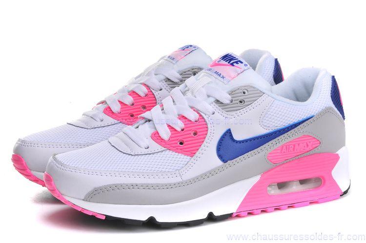 air max 90 femme blanche et rose